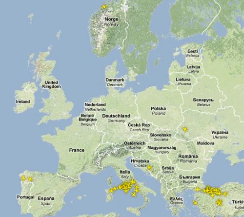 EYJAFJALLAJÖKULL Flugverkehr Europa Aschewolke