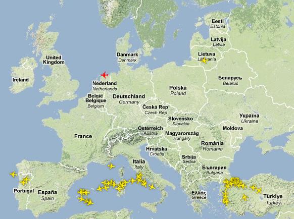 Europaweite Beeinträchtigungen im Luftverkehr durch Vulkanasche