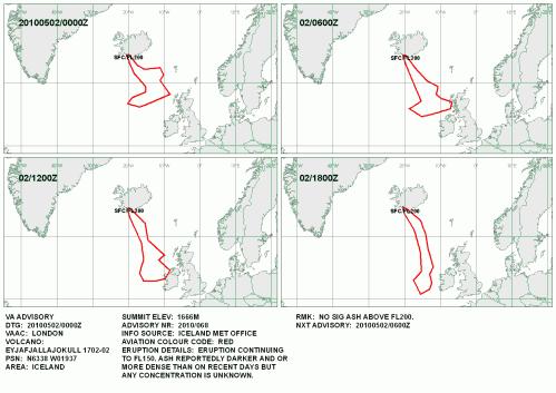Vulkanasche Ausbruch Europa Aschewolke