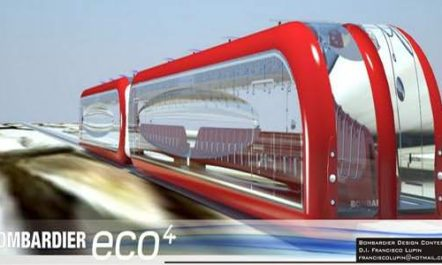 Bombardier Eco 4: Solarbetriebene Magnetschwebebahn [Designstudie]