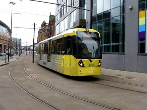 Metrolink Manchester Tram M5000 Straßenbahn