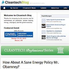 Screenshot Cleantechblog