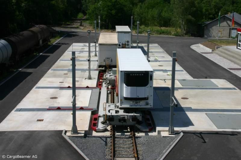 CargoBeamer Zug Cargojet Konzept Kombinierter Verkehr Parallelverladung