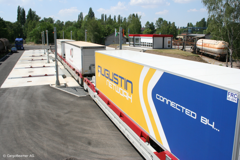 CargoBeamer Zug Cargojet Konzept Kombinierter Verkehr