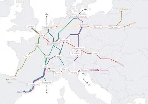Modalohr Europa Streckennetz Planungen