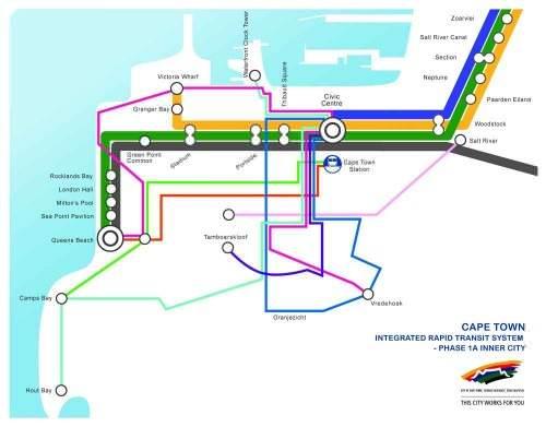 BRT Cape Town Netzkarte Südafrika Fussballweltmeisterschaft 2010