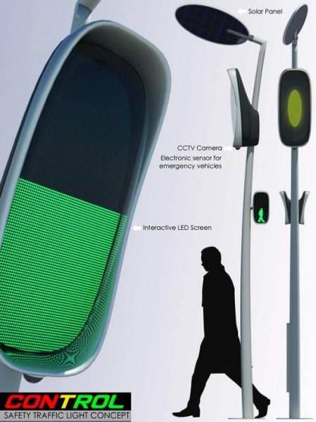 Intelligente Ampel Solarbetrieben Sicherheitsgewinn