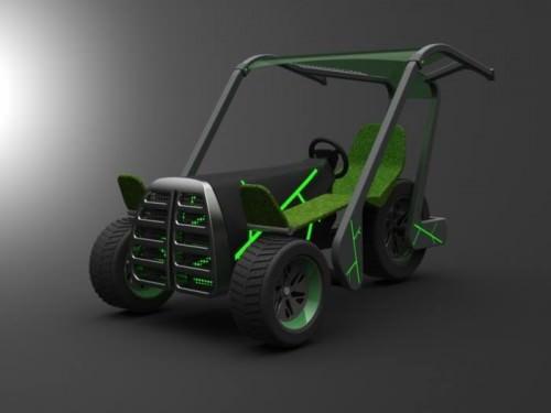 O2 Konzeptstudie von Leonardo Achilli Umwandlung CO2 in O2 Fahrzeug