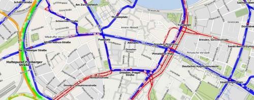 ÖPNV-Netz Dresden ÖPNV-Karte.de