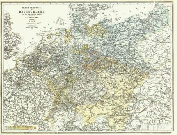 Bahnkarte Deutschland 1899