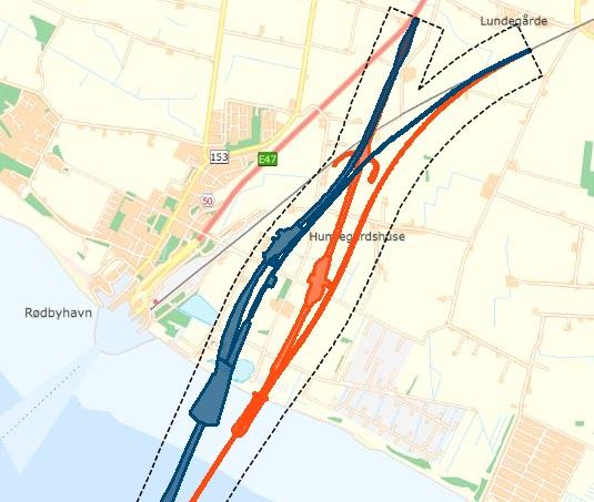 Anbindung der festen Fehmarnbeltquerung auf dänischer Seite bei Rodbyhavn