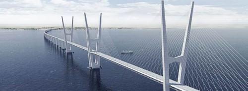 Fehmarnbelt Brücke Schrägseilbrücke Entwurf