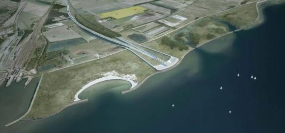 tunnelportal Fehmarnbelt-Tunnel Querung Dänemark Entwurf