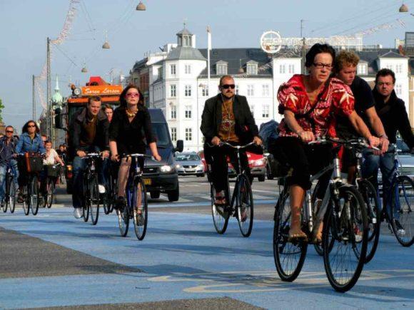 Noerrebrogade Radfahrer Radweg Hauptverkehrszeit