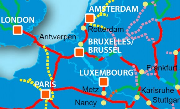 Hochgeschwindigkeitsnetz Europa 2020, Einbindung Belgiens
