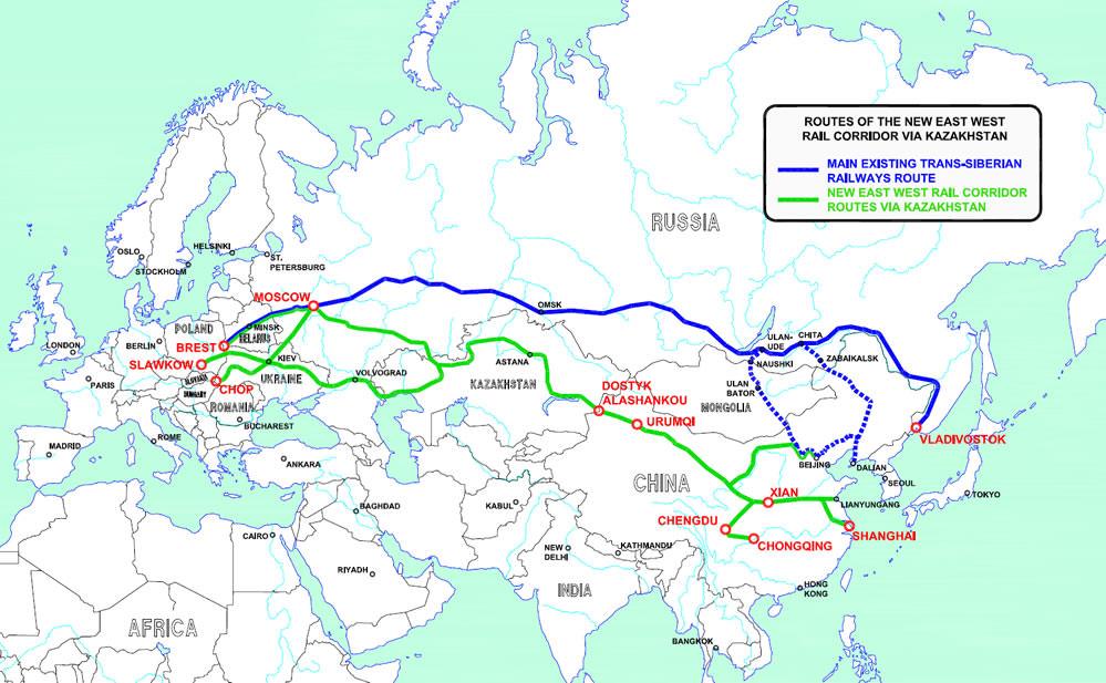 Eisenbahnstrecke China Europa über Türkei und Bulgarien Trasse Hochgeschwindigkeitszug