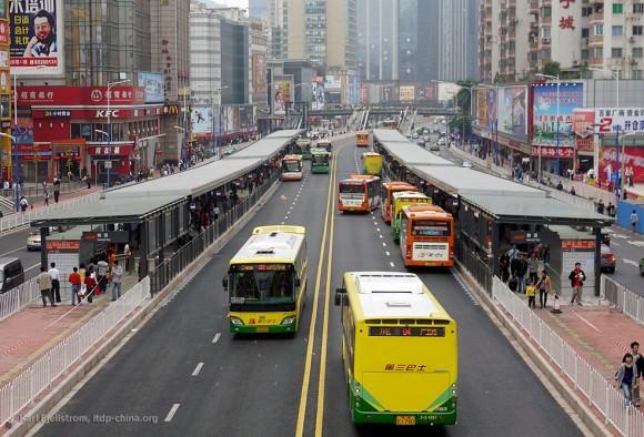 Guangzhou BRT Haltestelle Schnellbusnetz