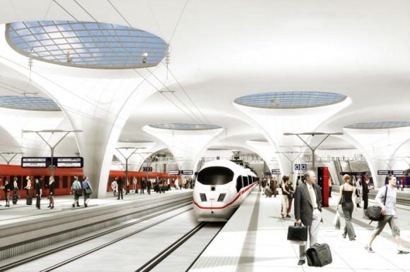 Stuttgart 21 Visualisierung Animation des Durchgangsbahnhofs