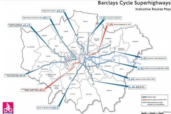 Super-Radwegenetz-London-Karte