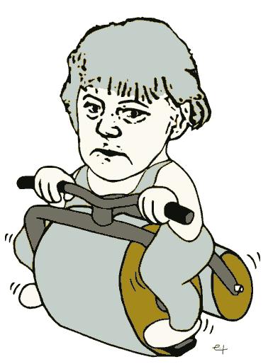 Merkelwalze Verkehrspolitik Bundeskanzlerin Merkel