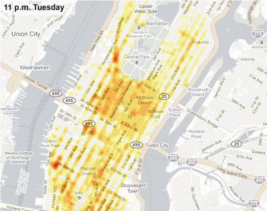 Taxis in New York Visualisierung des New Yorker Verkehrs