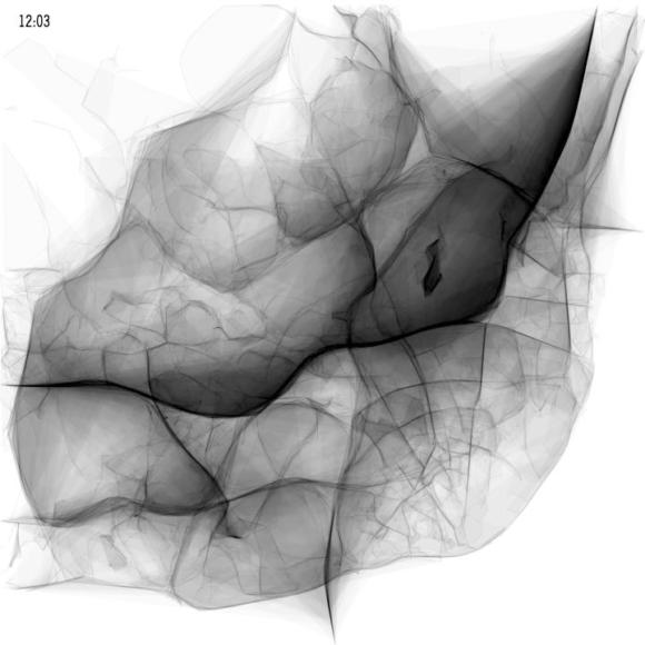 Verkehrsdichte in Lissabon am Mittag - Visualisierung von Pedro Cruz