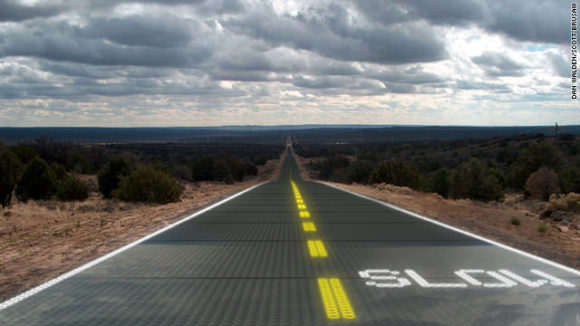 Solarautobahn Solar Highway Asphalt Solarzellen Scott Brusaw