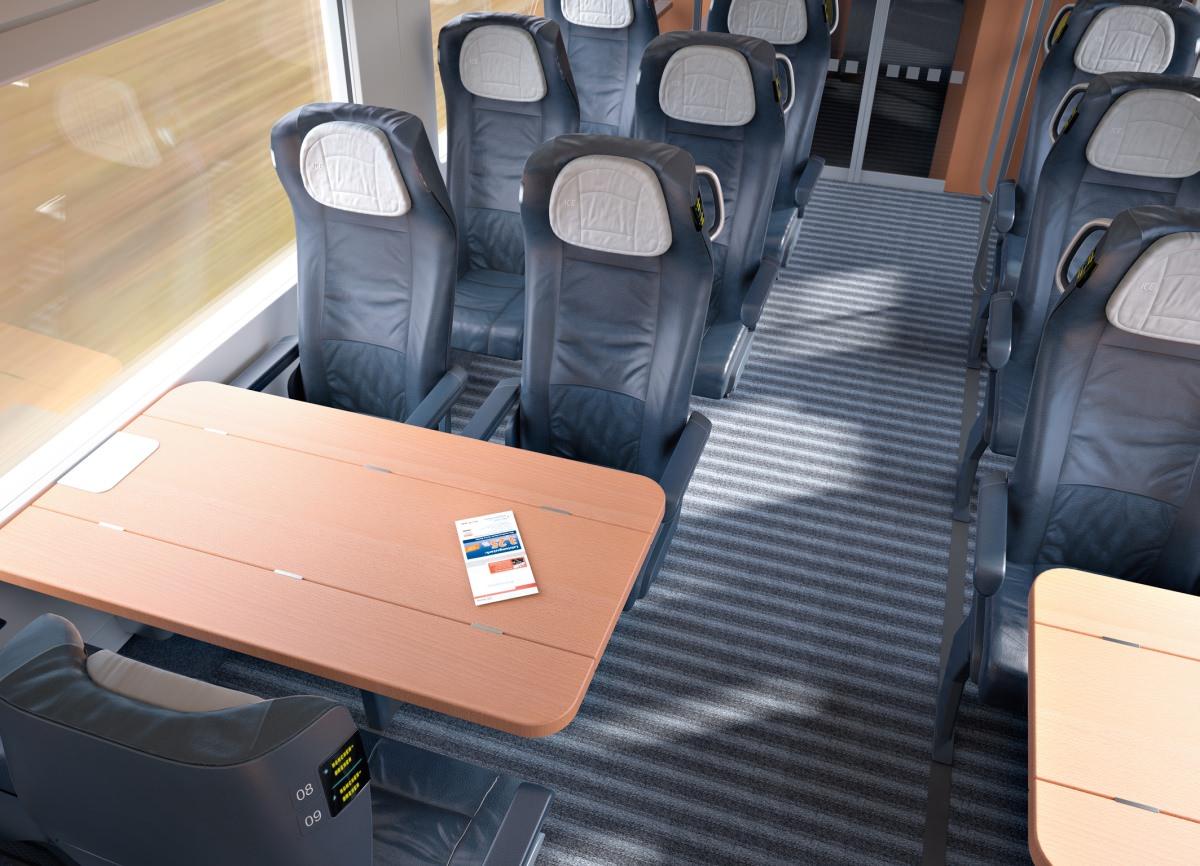 ICx 2011 DB Siemens neuer ICE IC EC ab 2016 1. Klasse Innenraum