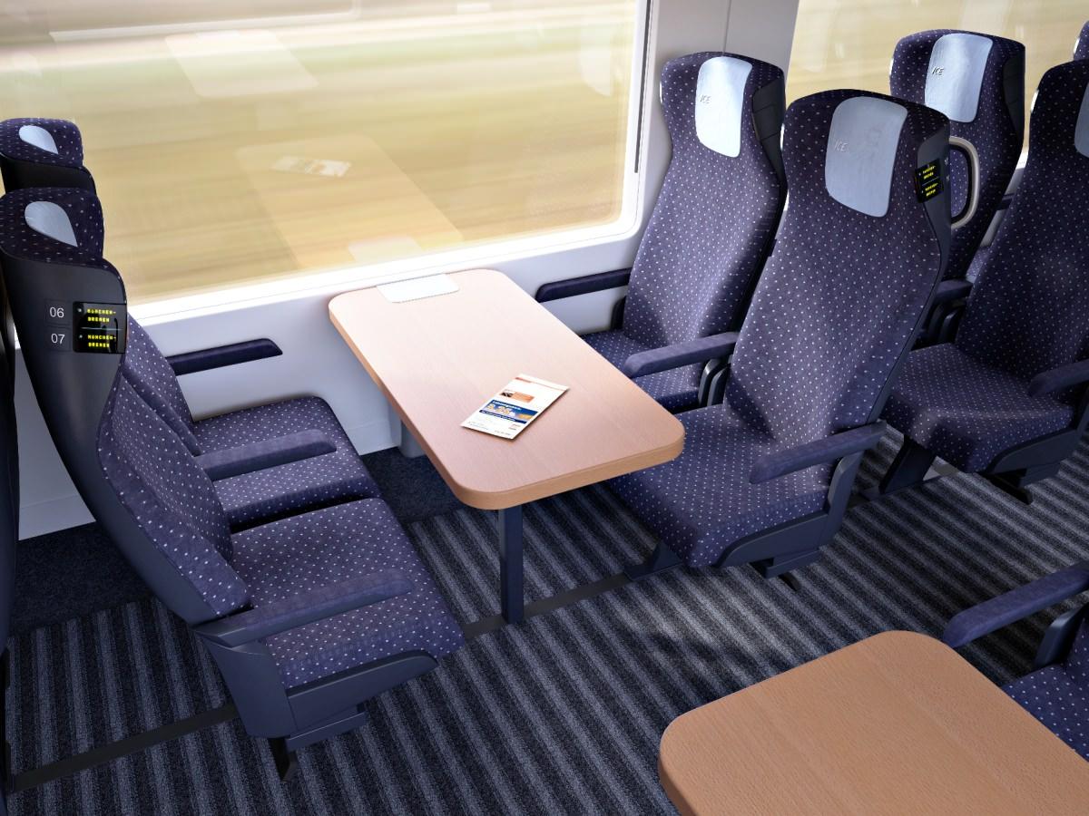 ICx Innenraum 2. Klasse Neuer ICE IC EC 2016 Siemens DB