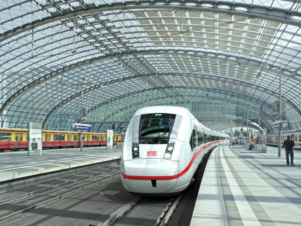 3D-Modell des ICx, Neuer ICE, Neuer IC, Neuer EC, Deutsche Bahn, Siemens, Fernverkehr, Fernverkehrszug Visualisierung Berlin Hbf