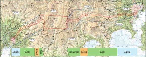 Chuo-Shinkansen geplante Streckenführung Tokio Osaka Maglev Übersichtskarte