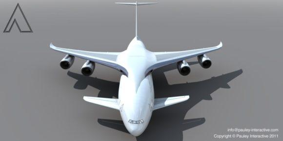 Größtes Flugzeug der Welt von Phil Pauley Frontflügel höhere Lasten Designstudie