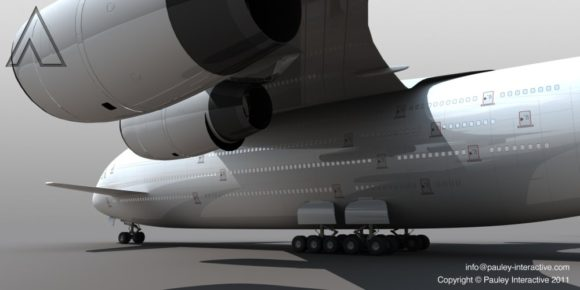 Größtes Flugzeug der Welt Triebwerke Phil Pauley Designstudie Super Jumbo