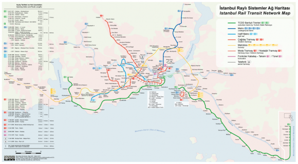 Istanbul Nahverkehrsnetz ÖPNV U-Bahn Metro Ausbau