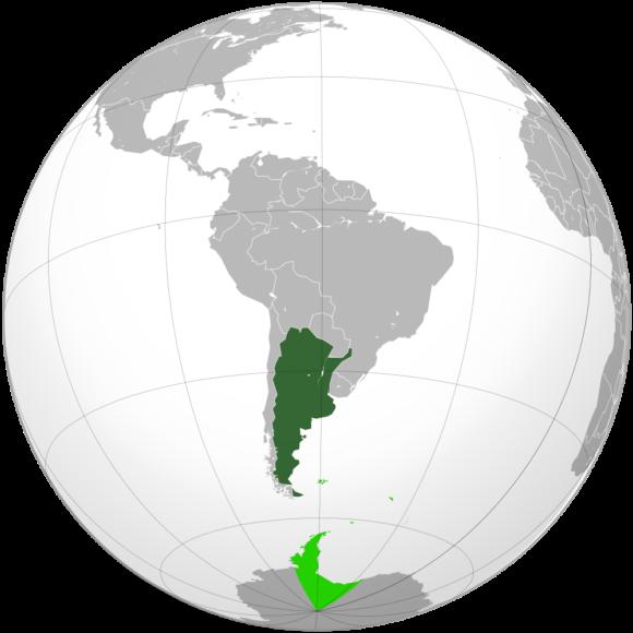 Karte von Argentinien orthografische Projektion
