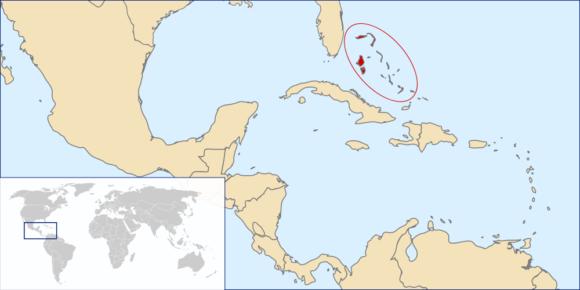 Karte von den Bahamas Weltkarte