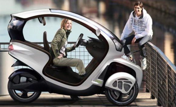 Icona Design E3Wm Elektroauto Stadt Roller mit Fahrgastzelle