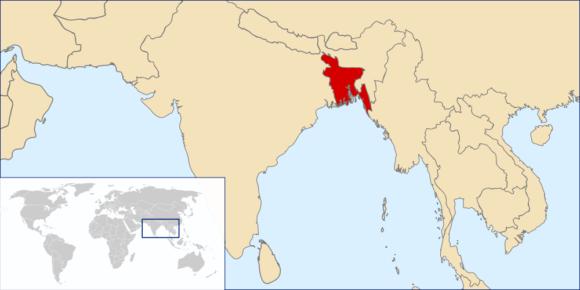 Karte von Bangladesch Weltkarte