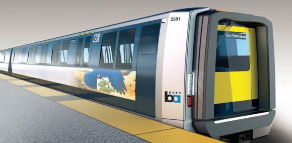 BART San Francisco Design der neuen Züge Designworks USA