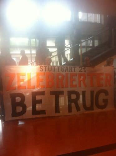 Stuttgart21 Proteste im Stuttgarter Rathaus Stresstest