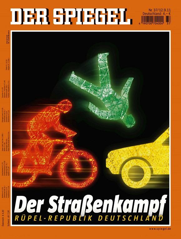 SPIEGEL-Cover Ausgabe 37/2011 Fahrradfahrer - Das Blech des Stärkeren