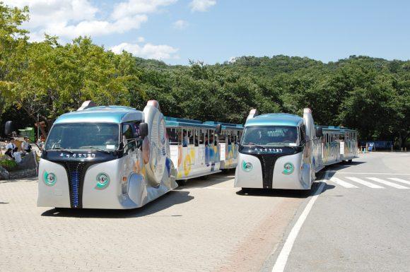 Elektrobus KAIST Induktiver ladestrom Südkorea