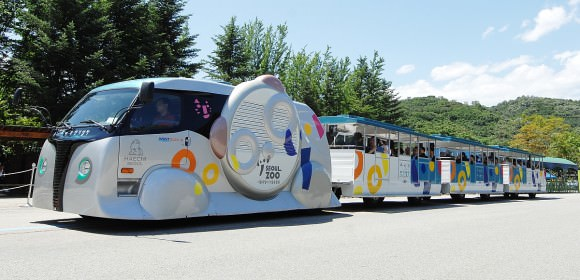 KAIST Elektrobus Südkorea Induktionsladung Magnetfeld Freizeitpark