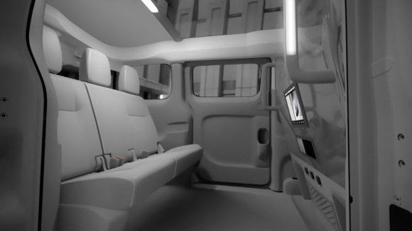 Nissan NV200 Innenraum Taxi der Zukunft in New York