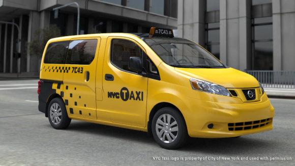 Taxi der Zukunft in New York, der Nissan NV200