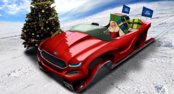 Ford Weihnachtsschlitten Designstudie