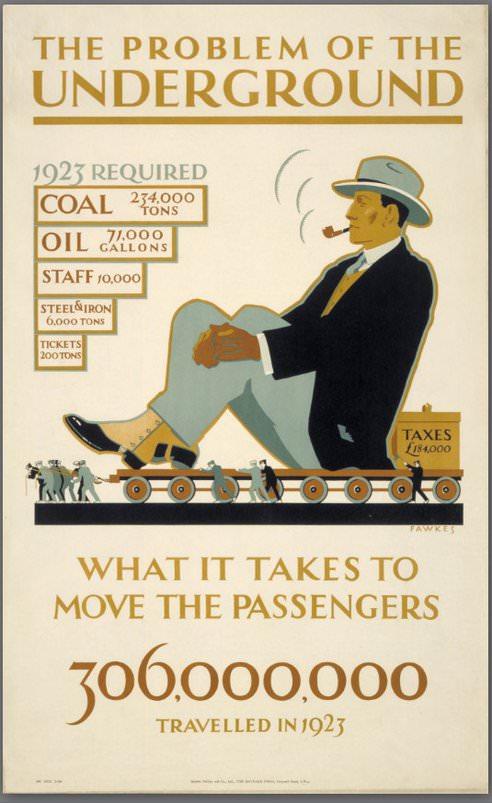 Verkehr in London Geschichte 1923 Nahverkehr Kohleverbrauch der U-Bahn