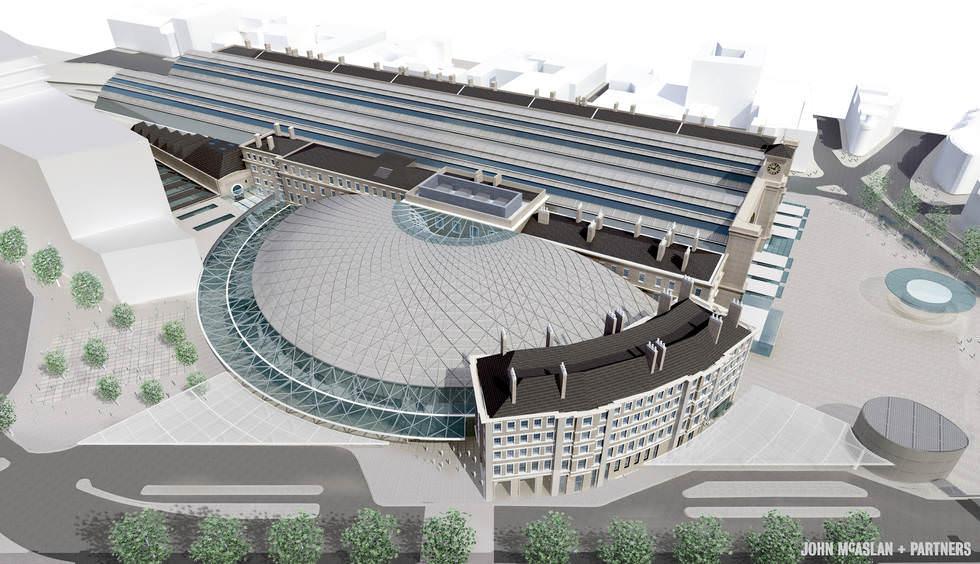 Neue Bahnhofshalle von King'Cross von JohnMcAslan in London Olympia 2012