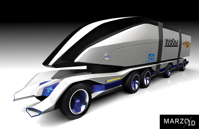 Volvo Ants Lkw Der Zukunft Von Alex Marzo Designstudie 187 Zukunft Mobilit 228 T