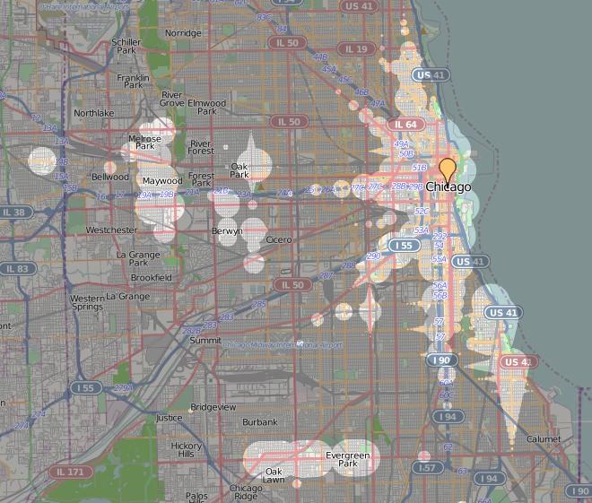 ÖPNV in Chicago Qualität des Nahverkehrs Zeitabhängigkeit